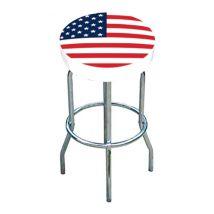 Café Compagnie - Tabouret bar blanc drapeau USA new - TROUS3083