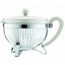1.3L Chambord teapot with white acrylic tea infuser - Bodum