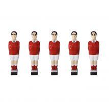 Lot de 11 joueurs Marius rouges et 4 barres Inox