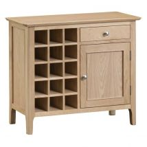 Cranbrook Natural Oak Wine Cabinet