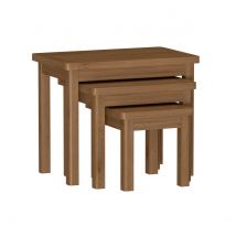 Rosewell Natural Oak Nest of 3 Tables