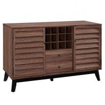 Dorel Vaughn Wine Cabinet - Walnut