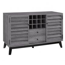 Dorel Vaughn Wine Cabinet - Grey Oak
