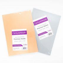 Crafter's Companion  Centura Metallic 72 Sheet A4 Card Pack Bundle - Precious Metals