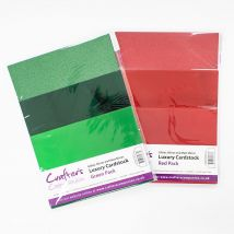 Crafter's Companion Luxury Red/Green Cardstock Bundle - 60 Pack