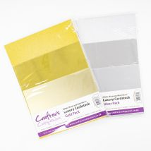 Crafter's Companion Luxury Gold/Silver Cardstock Bundle - 60 Pack