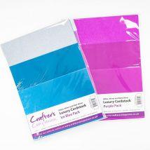 Crafter's Companion Luxury Blue/Purple Cardstock Bundle - 60 Pack