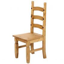 Set Of 2 Corona Pine Dining Chairs