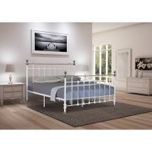 Madison Small Double Bed Frame - White