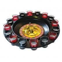 Shot Glass Roulette Casino Style Drinking Game with 16 Shot Glasses
