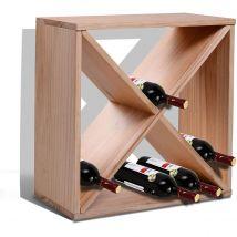 HOMCOM Wooden 24 Bottle Wine Rack