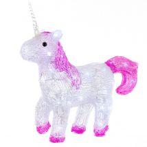 33cm Acrylic Standing Unicorn with 40 Ice White LEDs