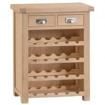 Wisborough Small Ready Assembled Oak Wine Rack