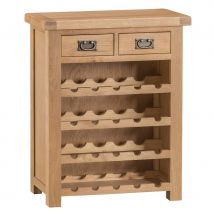 Graceford Small Ready Assembled Oak Wine Rack