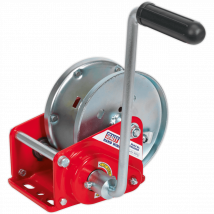 Sealey Hardened Steel Geared Hand Winch with Automatic Brake 900Kg
