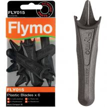 Flymo FLY015 Genuine Blades for Micro Compact Lawnmowers Pack of 6