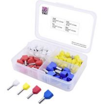 T1903C021 TRU COMPONENTS Ferrule set 2 x 0.75, 1, 1.50, 2.50 Partially insulated White, Yellow, Red, Blue 90 Parts