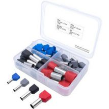 T1903C026 TRU COMPONENTS Ferrule set 2 x 2.50, 4, 6, 10 Partially insulated Blue, Grey, Black, Red 36 Parts