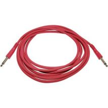 Paccs IC52RE040SD Instruments Cable [1x Jack plug 6.35 mm - 1x Jack plug 6.35 mm] 4 m Red
