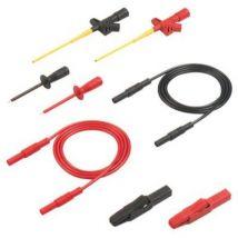 SKS Hirschmann PMS 2600 Safety test lead et [Banana jack 4 mm - Banana jack 4 mm] 1 m Black, Red