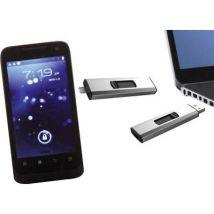 Xlyne Dual OTG USB smartphone/tablet extra memory Silver 32 GB USB 2.0, Micro USB 2.0