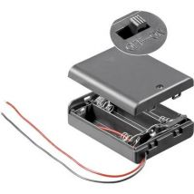 Goobay 12445 Battery box 3x AA Cable (L x W x H) 68.5 x 48 x 18.7 mm