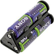 MPD BU1-M-402 Battery tray 6x C Pin contact (L x W x H) 112 x 53 x 48 mm