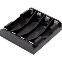 MPD BK-1264-PC8 Battery tray 4x AAA Solder lug (L x W x H) 53 x 49 x 12 mm