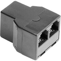 Hama Western Y adapter [1x RJ11 6p4c socket - 2x RJ11 6p4c socket] 0 m Black