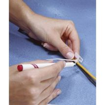 TRU COMPONENTS TE-6259184 Lead marker Writing area: 20 x 13 mm Ecru 1 pc(s)