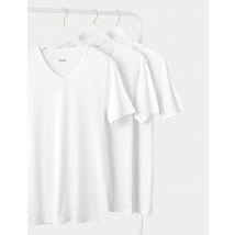 M&S Collection 3 Pack Pure Cotton V-Neck Vest