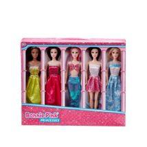M&S Bonnie Pink Unisex 5 Pack Princess Fashion Dolls (3-10 Yrs) - 1SIZE