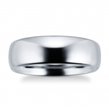 7mm gents plain band ring in titanium - Ring Size Q
