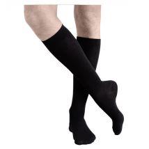 Sigvaris Active Confort Fraîcheur Homme Chaussettes Classe 2 Long Taille XL Noir - Pieds Fermés -