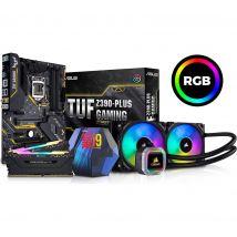 Intel®? Core™? i9-9900K Processor, Asus TUF Z390-PLUS Motherboard, 32 GB RAM & AMD Hydro Series CPU Cooler Bundle