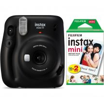 INSTAX mini 11 Instant Camera & 20 Shot INSTAX Mini Film Pack Bundle - Charcoal Gray, Charcoal