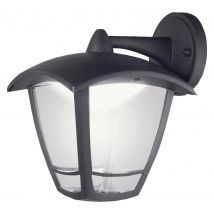 LUCECO Decorative Outdoor LED Wall Lamp - Black, Black