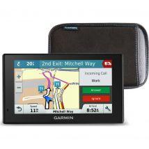 """GARMIN DriveSmart 51 LMT-S 5"""" Sat Nav & Case - UK & ROI Maps, Red"""
