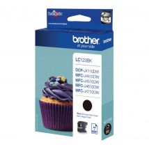 BROTHER LC123BK Black Ink Cartridge, Black