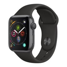 APPLE Watch Series 4 - Space Grey & Black Sports Band, 40 mm