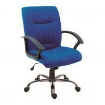 TEKNIK Milan Fabric Reclining Executive Chair - Blue, Blue