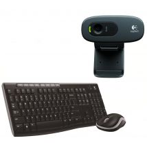 LOGITECH HD Webcam, Wireless Keyboard & Mouse Bundle