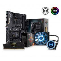 PC SPECIALIST AMD Ryzen 7 Processor, TUF Gaming Motherboard, 16 GB RAM & FrostFlow Liquid Cooler Components Bundle