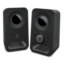 LOGITECH Z150 Multimedia 2.0 PC Speakers, Black