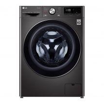 LG TurboWash 360 with AI DD V9 FWV917BTSE WiFi-enabled 10.5 kg Washer Dryer - Black Steel, Black