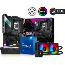 PCSPECIALIST Intel®Core™ i7 Processor, ROG STRIX Gaming Motherboard, 16 GB RAM & H100i RGB CPU Cooler Components Bundle