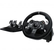 LOGITECH Driving Force G920 Xbox & PC Racing Wheel & Pedals - Black, Black