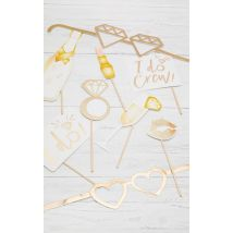 Ginger Ray Metallic Photo Booth Props Set, Multi