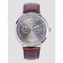 Silver & Brown Strap Wrist Watch   Ben Sherman   Est 1963 - One Size