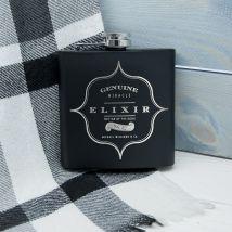 Personalised Elixir Vintage Hip Flask